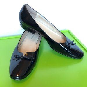 Enzo Angiolini Black Patent Leather Flats